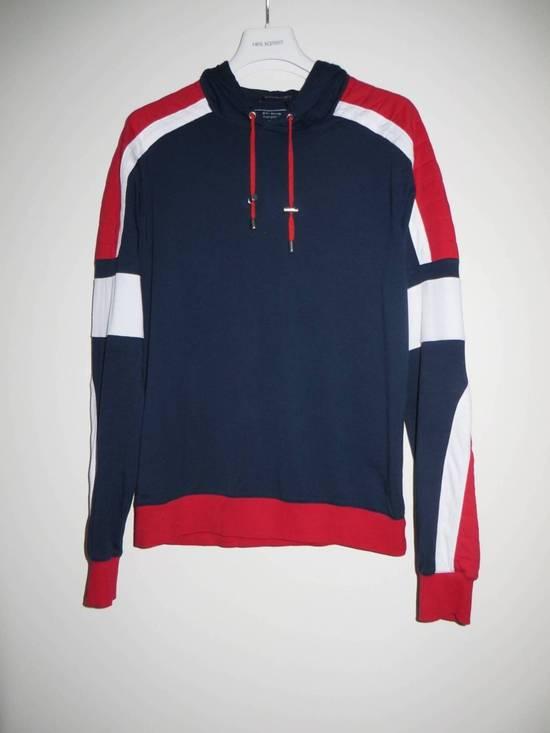 Balmain Panelled cotton biker hoodie Size US XS / EU 42 / 0