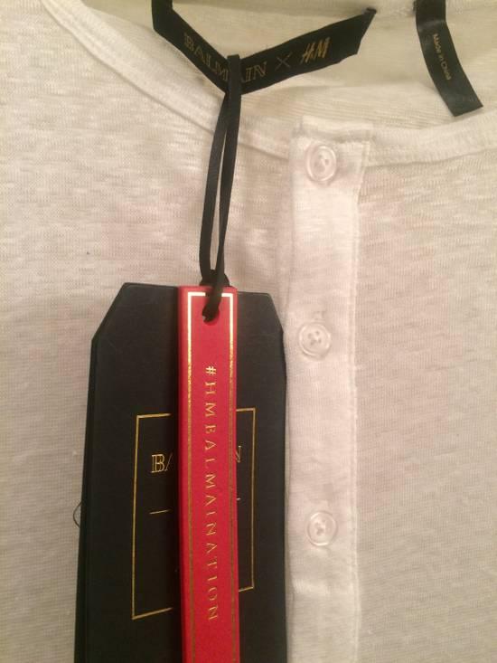 Balmain White Henley Shirt Size US L / EU 52-54 / 3 - 3