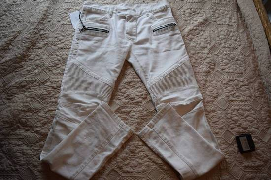 Balmain Balmain Authentic $1149 White Biker Jeans Size 31 Brand New With Tags Size US 31