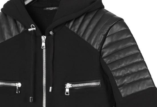 Balmain Original Balmain Leather App Black Men Hooded Sweatshirt Top Jumper in size M Size US M / EU 48-50 / 2 - 4