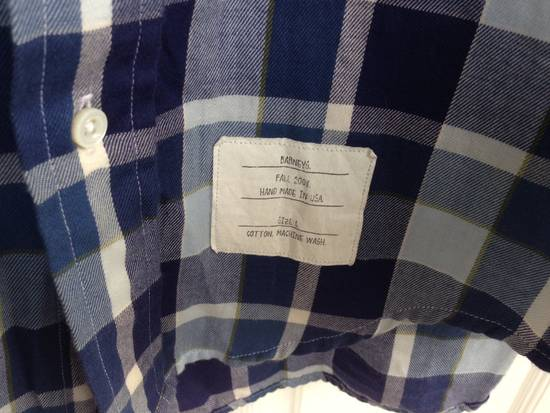 Thom Browne THOM BROWNE Blue Plaid Buttondown Size US S / EU 44-46 / 1 - 1