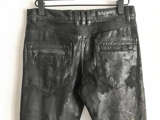 Balmain Brand New Biker Coated Jeans Size US 30 / EU 46 - 7