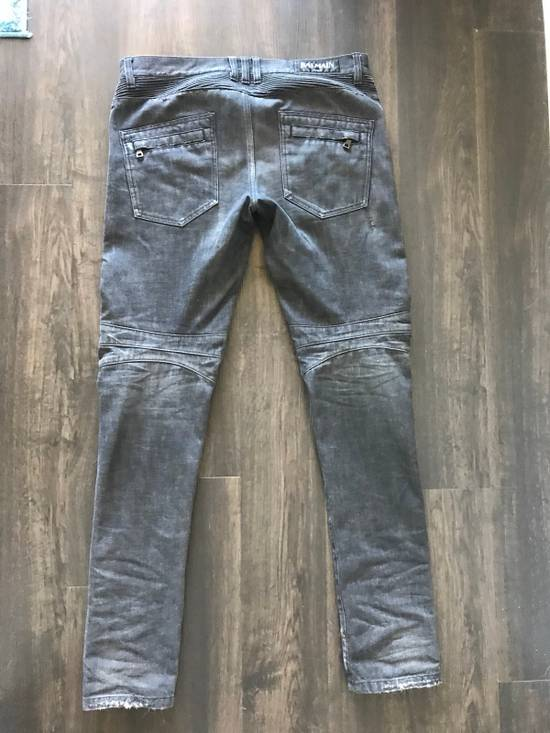 Balmain Decarnin Era Biker Denim Size US 33 - 2