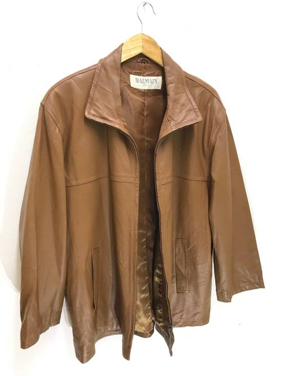 Balmain Balmain Paris Vintage Sheep Leather Jacket Brown Size US L / EU 52-54 / 3 - 1