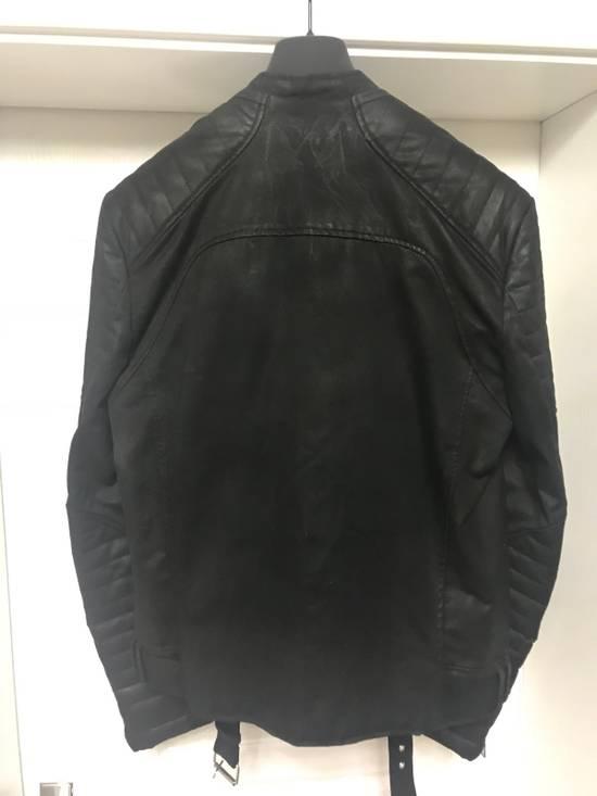 Balmain waxed biker jacket Size US M / EU 48-50 / 2 - 3