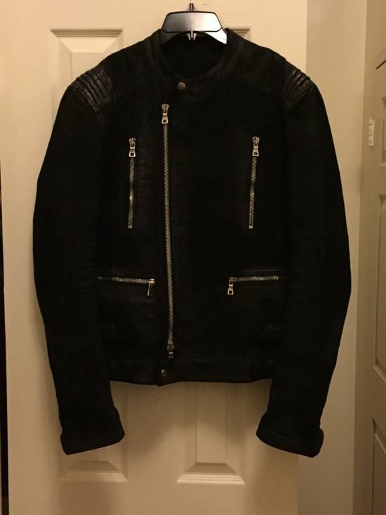 Balmain RARE Waxed Moleskin Biker Jacket Size US L / EU 52-54 / 3 - 3