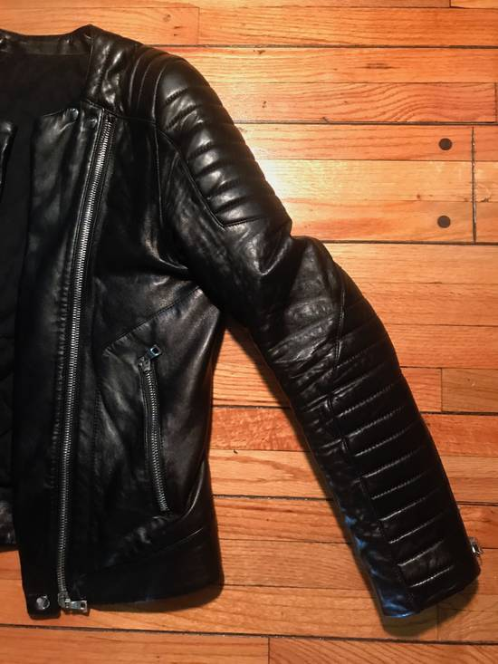 Balmain Quilted Leather Biker Jacket Size US M / EU 48-50 / 2 - 1