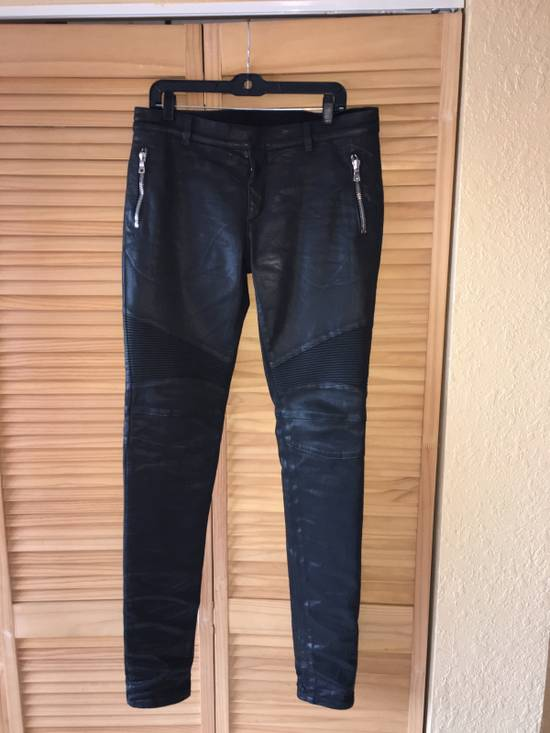 Balmain Coated Skinny Biker Jeans Size US 33