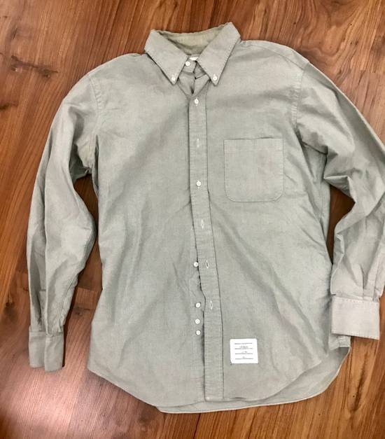 Thom Browne Classic Long Sleeve Shirt In Mint Green Size US XL / EU 56 / 4