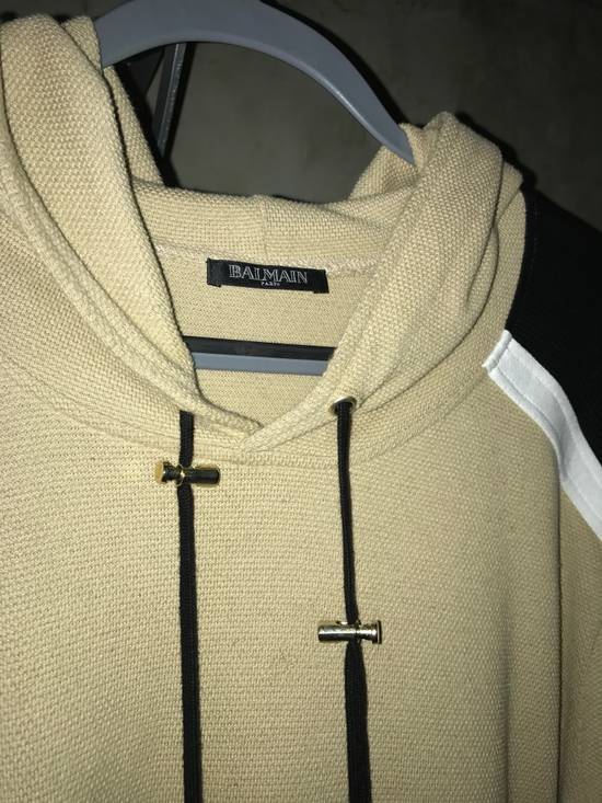Balmain PANELLED COTTON AND LINEN-BLEND HOODIE Size US XXL / EU 58 / 5 - 2