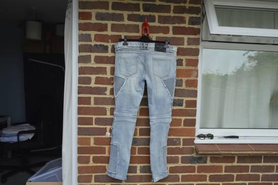 Balmain Balmain Blue Ribbed Biker Jeans Size US 31 - 7
