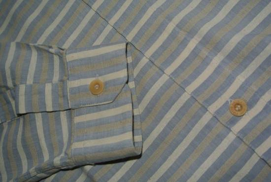Balmain Balmain vintage 90's shirt Stripes stripped Grey Beige cream made in Japan size XS Size US XS / EU 42 / 0 - 4