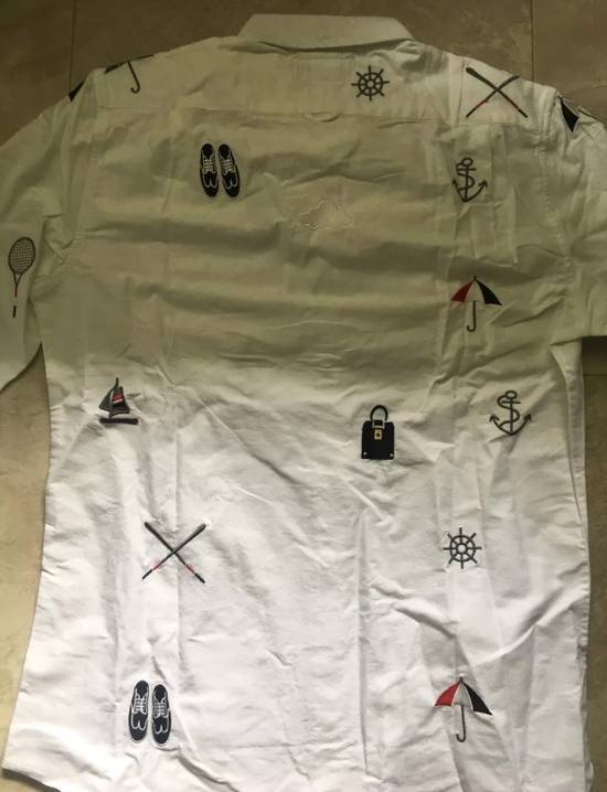 Thom Browne White - Nautical Embroidered All-Over Icon Oxford Size US L / EU 52-54 / 3 - 1