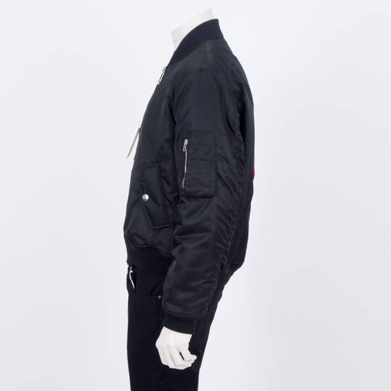 Givenchy 2550$ New Black Padded Nylon Illuminati Patch Bomber Jacket Size US L / EU 52-54 / 3 - 5