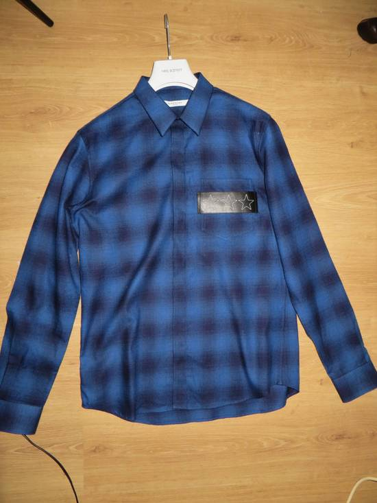 Givenchy Embroidered flannel shirt Size US XL / EU 56 / 4 - 1