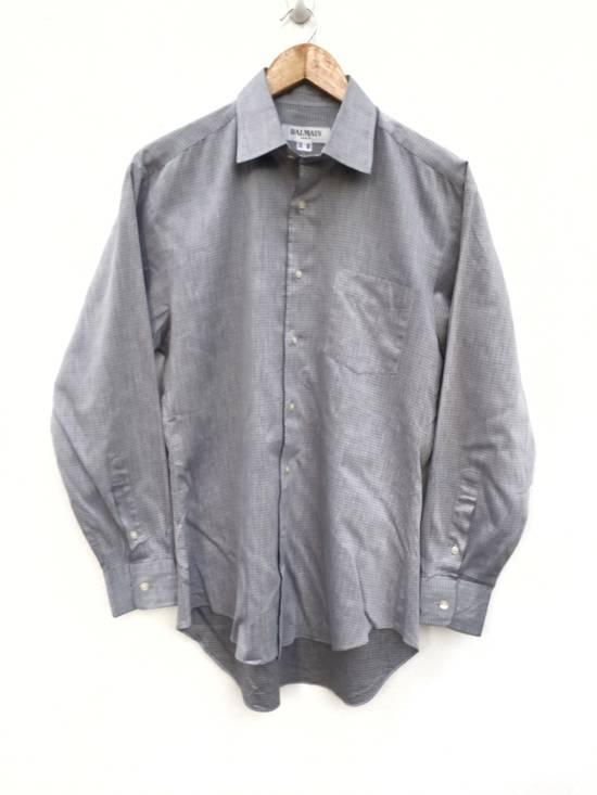 Balmain Plaid Single Pocket Button Up Shirt Size US M / EU 48-50 / 2 - 1