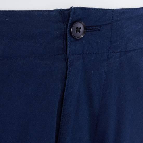 """Yohji Yamamoto YOHJI YAMAMOTO blue cotton dropped crotch exteme wide leg cargo pants JP3 33"""" L Size US 33 - 5"""