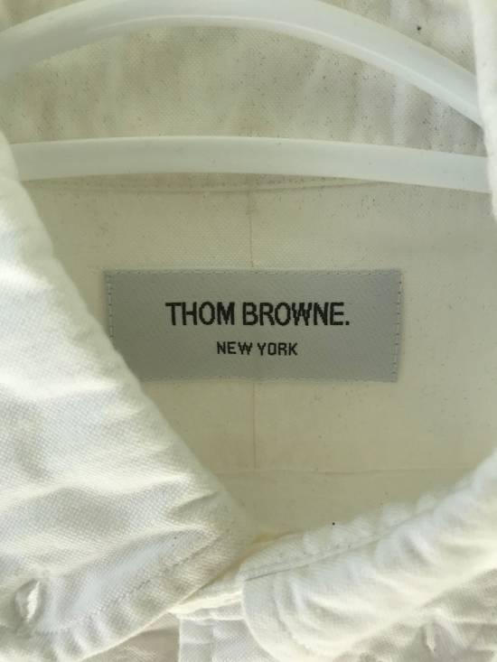 Thom Browne White Poplin Button-Down Size US M / EU 48-50 / 2 - 1