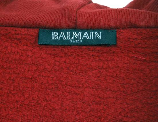 Balmain Original Balmain Red Men Hooded Top Sweatshirt Jumper in size L Size US L / EU 52-54 / 3 - 7