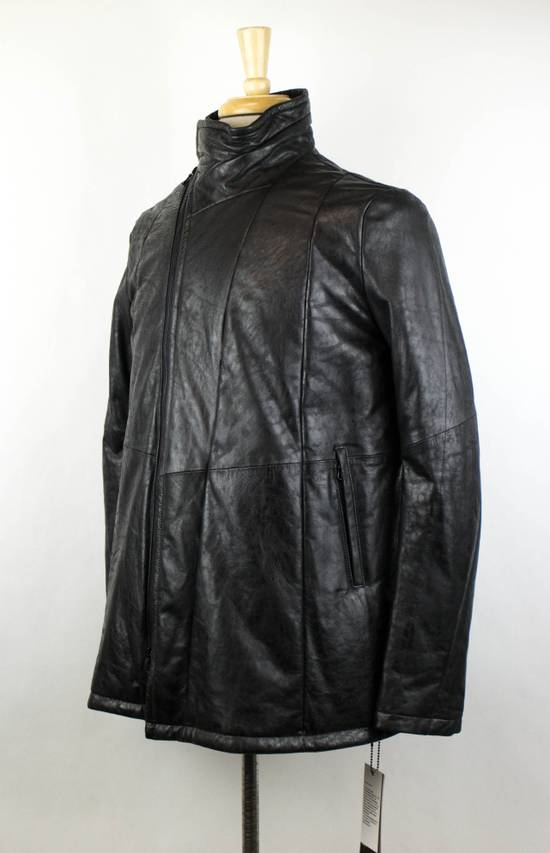 Julius 7 Men's Black Lamb Skin Leather Zip-Up Jacket Size 2/S Size US S / EU 44-46 / 1 - 1