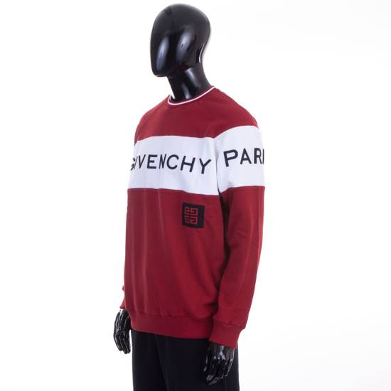 Givenchy Dark Red Givenchy Paris 4G Embroidered Sweatshirt Size US M / EU 48-50 / 2 - 1