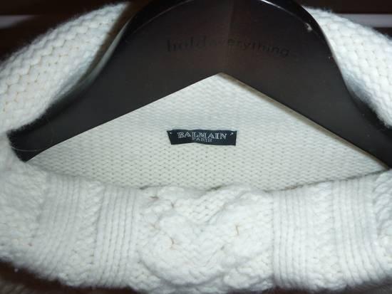 Balmain Cable Knit Sweater Merino Size US L / EU 52-54 / 3 - 5