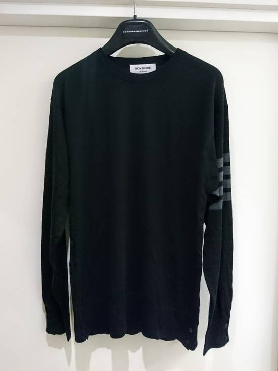 Thom Browne Black wool stripe knit, size 5 - RARE Size US L / EU 52-54 / 3