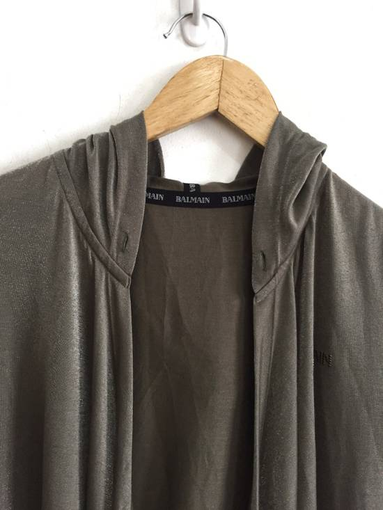 Balmain [ LAST DROP ! ] Authentic Silk Rayon Spell Out Unbuttoned Hoodie Size US M / EU 48-50 / 2 - 4