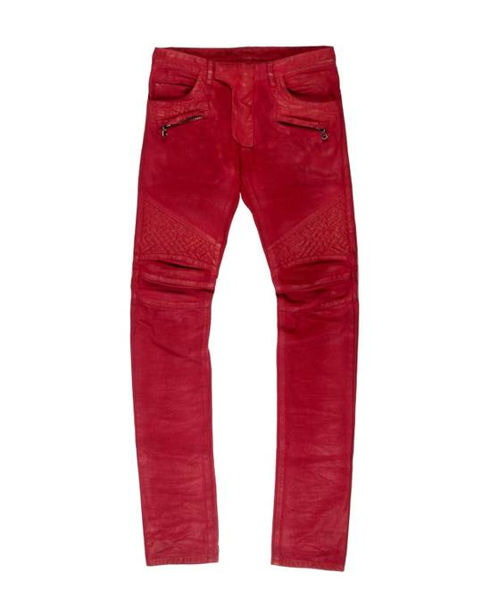 Balmain Balmain Biker Denim Red Size US 28 / EU 44 - 1