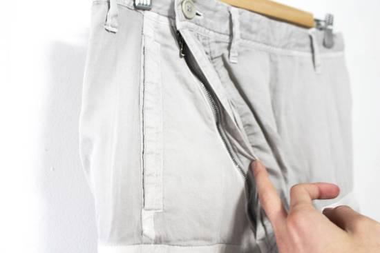 Julius SS12 Cotton Silk Satin Gas Mask Cargo Strapped Pants Size US 30 / EU 46 - 2