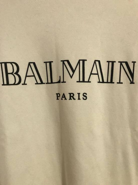 Balmain Balmain Logo White Crewneck Size US S / EU 44-46 / 1 - 1