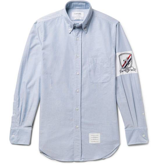 Thom Browne Slim-Fit Button-Down Collar Embroidered Cotton Oxford Shirt Size US S / EU 44-46 / 1