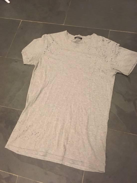 Balmain Balmain Decarnin Era Shot Grey Gun Distressed T Shirt Size US S / EU 44-46 / 1
