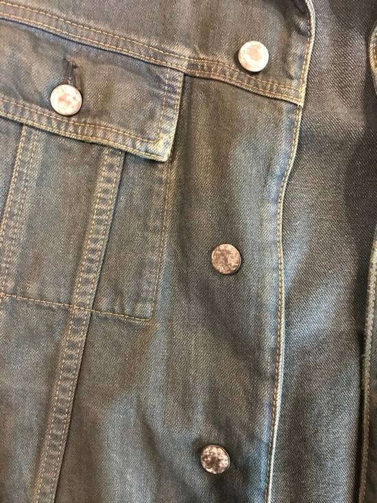 Balmain Navy Blue Wax Coated Denim Trucker Jacket Size US M / EU 48-50 / 2 - 3