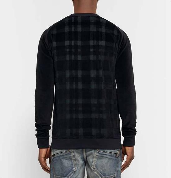 Balmain Size Small - Checked Button Shoulder Sweatshirt- FW16 - $1050 Retail Size US S / EU 44-46 / 1 - 13