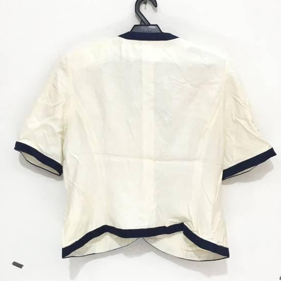 Balmain PIERRE BALMAIN PARIS Double Breasted Made In ITALY White Blouse Jacket Blazer Size 36S - 5