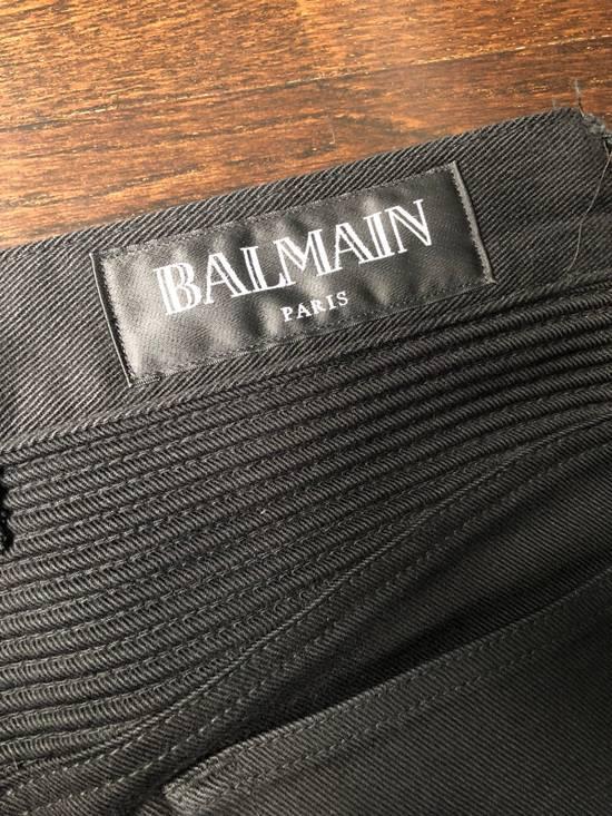 Balmain Black Waxed Bikerjeans Size US 31 - 5
