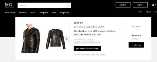 Balmain Classic Leather Biker Size US M / EU 48-50 / 2 - 7