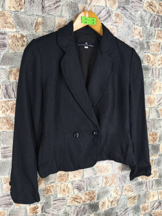 Givenchy GIVENCHY Ladies Coat Jacket Small Black Vintage Designer Givenchy Yohji Comme Des Buttondown Formal Blazer Cropped Women Size S Size US S / EU 44-46 / 1 - 4