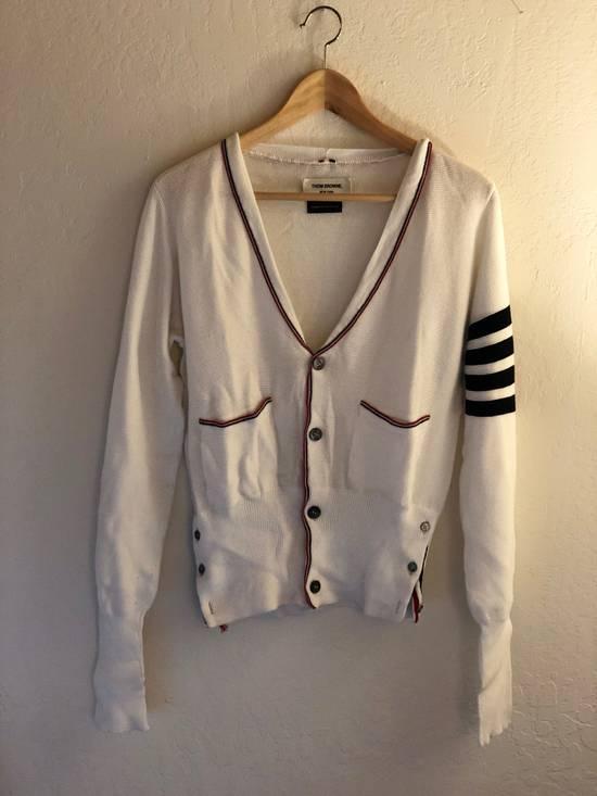 Thom Browne Thom Browne White Knit Cardigan Size US S / EU 44-46 / 1