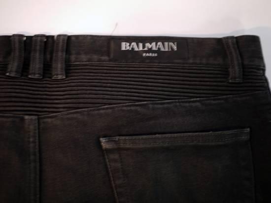 Balmain Balmain Biker Denim Black Size US 34 / EU 50 - 5