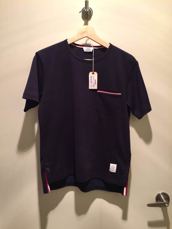 Thom Browne Navy SS Pocket Tee Jersey Cotton Size US S / EU 44-46 / 1