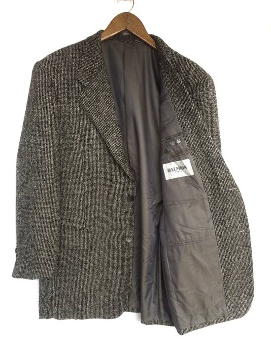 Balmain Tailored BALMAIN Blazer Italia Wool Woven by Ponzone Biellese Size 40R - 1