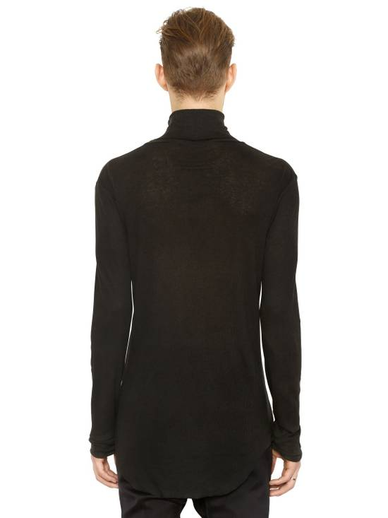 Balmain Black Ribbed Knit Roll Neck T-shirt Size US L / EU 52-54 / 3 - 2