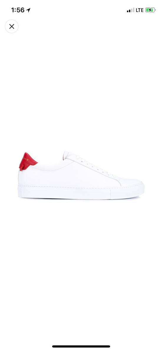 Givenchy Givenchy White & Red Urban Street Sneakers Size US 11 / EU 44 - 1