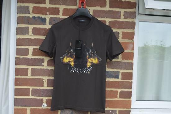 Givenchy Brown Doberman Print T-shirt Size US S / EU 44-46 / 1