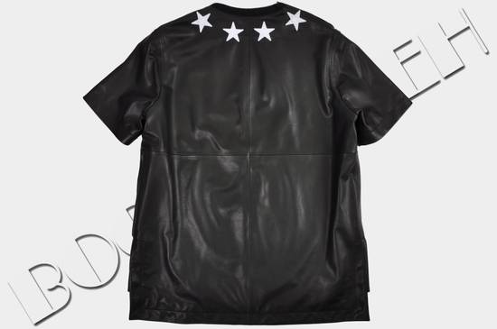 Givenchy 2500$ Black Leather Star Embroidered T-shirt Size US L / EU 52-54 / 3 - 2