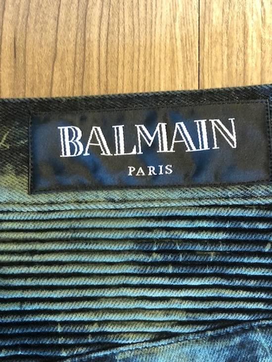 Balmain Extremely Rare Brand New Balmains- Marble-Print Skinny Moto Jeans Size US 32 / EU 48 - 3