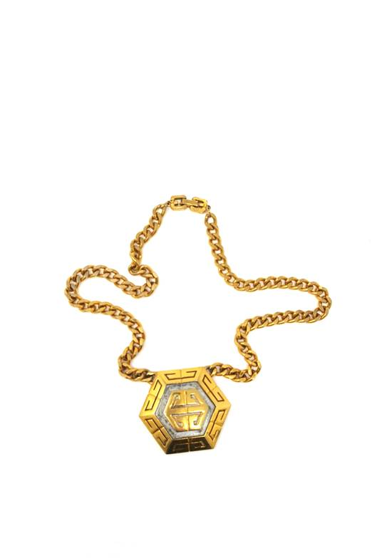 Givenchy OVERSIZED Gold plated logo necklace Size ONE SIZE - 5