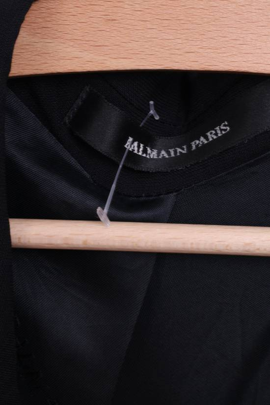 Balmain BALMAIN Paris Mens 46 Blazer Top Suit Black Regular Wool Single Breasted 6860 Size 46R - 3